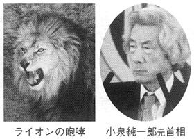 ライオンの咆哮 小泉純一朗元首相