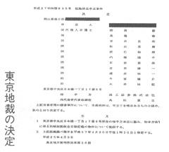 東京地裁の決定