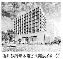香川銀行新本店ビル完成イメージ