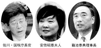 佐川・国税庁長官 安倍昭恵夫人 籠池泰典理事長
