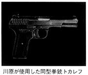 川原が使用した同型拳銃トカレフ