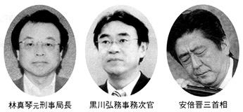 林真琴元刑事局長 黒川弘務事務次官 安倍晋三首相