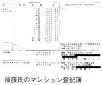 後藤氏のマンション登記簿