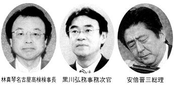 林真琴名古屋高検検事長 黒川弘務事務次官 安倍晋三総理