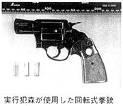 実行犯森が使用した拳銃