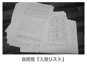 自民党「入党リスト」