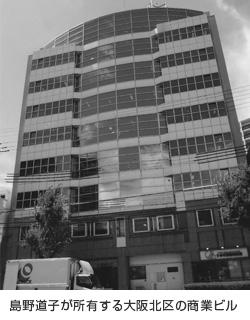 島野道子が所有する大阪北区の商業ビル