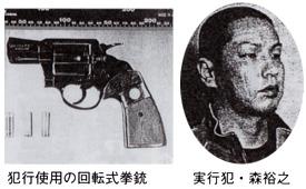 犯行使用の回転式拳銃 実行犯・森裕之