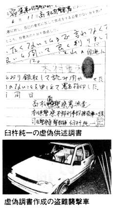 臼杵純一の虚偽供述調書 虚偽調書作成の盗難襲撃者