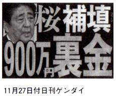 11月27日付日刊ゲンダイ